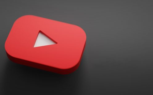 Youtube 3D Rendering Close up. Youtube Channel Promotion Template.