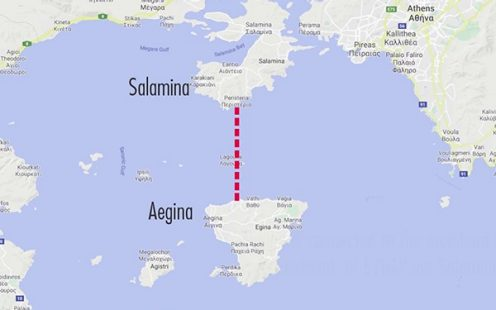 Aegina Water Supply Route